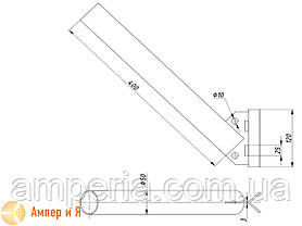 Кронштейн угловой под бандажную ленту, КБО-С 50(40), фото 2