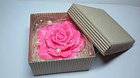 """Мыло сувенирное """"Роза"""" в коробочке из гофрокартона"""