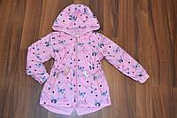 Весенняя куртка-плащ для девочек,Размер 4-12,Фирма S&D,Венгрия