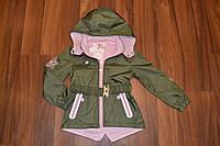 Весенняя куртка-плащ для девочек,Размер 4-12,Фирма TAURUS,Венгрия