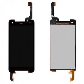 Дисплей (экран) для HTC 901e Butterfly S/901s с сенсором (тачскрином) черный