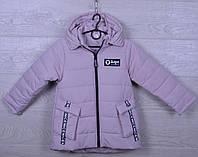 """Куртка детская демисезонная """"AaPe"""" для девочек. 5-9 лет. Сиренево-серая. Оптом., фото 1"""