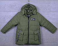 """Куртка детская демисезонная """"AaPe"""" для девочек. 5-9 лет. Оливковая. Оптом., фото 1"""