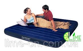 Надувной матрас Intex с насосом и двумя подушками