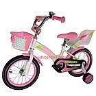 Детский велосипед Crosser Kids Bike 14 дюймов с сиденьем для куклы бело-розовый, фото 2