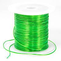 Резинка силиконовая для рукоделия, темно-зеленая, Размер: 0,8 мм/10 м