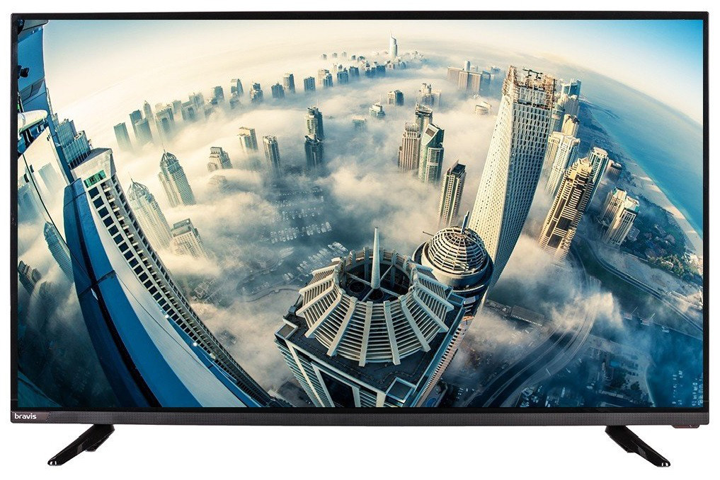 "Телевизор 39"" Bravis LED-39E6000+T2 black, фото 1"
