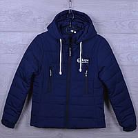 """Куртка подростковая демисезонная """"AaPe"""" для девочек. 10-14 лет. С вертикальными карманами. Темно-синяя. Оптом., фото 1"""