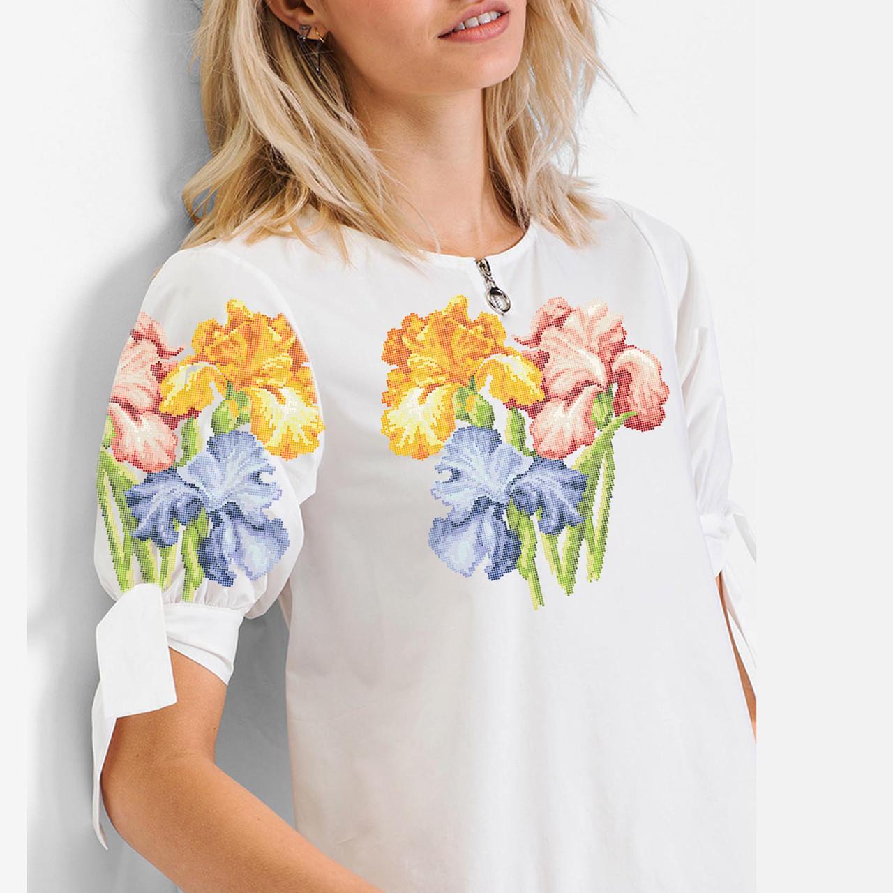 Заготовка вишиванки жіночої сорочки та блузи для вишивки бісером Бисерок «Іриска» (Б-150)