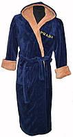 Мужской халат синего цвета