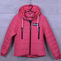 """Куртка подростковая демисезонная """"AaPe"""" для девочек. 10-14 лет. С вертикальными карманами. Коралловая. Оптом., фото 1"""