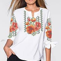 Заготовка вишиванки жіночої сорочки та блузи для вишивки бісером Бисерок  «Чари квітів» Домоткан ( c3b04288f1598