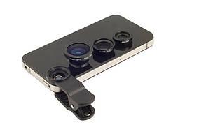 3в1 фишай, широкоугольная, макролинза для телефона