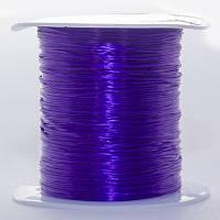 Резинка силиконовая для рукоделия, фиолетовая, Размер: 0,8 мм/10 м