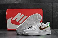 Кроссовки женские Nike Air Force SD-4234 Материал натуральная кожа. Белые с золотом