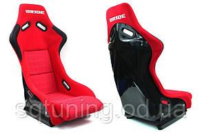 Спортивное сиденье EVO BRIDE (Красное, Ткань)