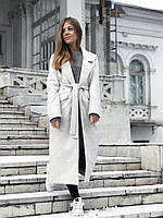 Демисезонное пальто серое 0118