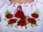 Женская батистовая вышиванка с полевыми  маками , фото 4