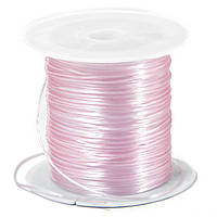Резинка силиконовая для рукоделия, розовая, Размер: 1 мм/10 м