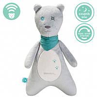 Myhummy - успокаивающая музыкальная мягкая игрушка с белым шумом. Мальчик серый