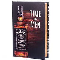 "Шкатулка в виде книги ""Jack Daniels"" 26х17х5 см. с ключом"