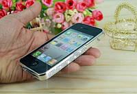 Бампер с камнями Swarovski для iPhone 4 4S, фото 1