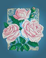 Схема для вишивки та вишивання бісером Бисерок квіти «Три рози» (A3) 30x40 3d45fc742d215