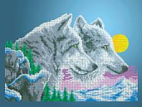 Схема для вишивки та вишивання бісером Бисерок «Вовки і місяць» (A3) 30x40 6d3a1432b6491