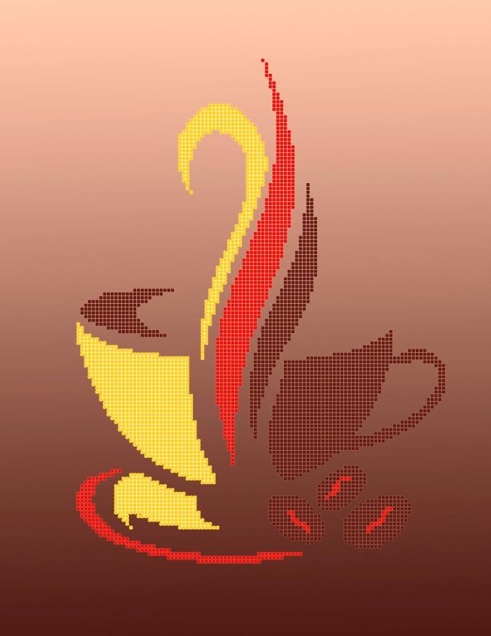 Схема для вишивки та вишивання бісером Бисерок «Капучино» (A3) 30x40 (ЧВ-5131(10))