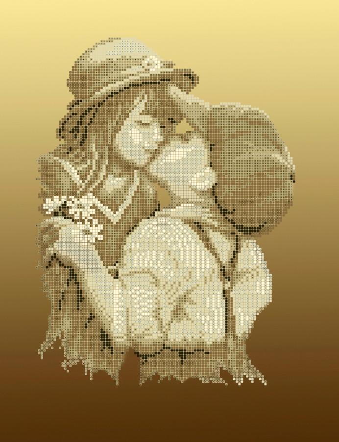Схема для вишивки та вишивання бісером Бисерок «Перший поцілунок» (A3) 30x40 (ЧВ-5133(10))