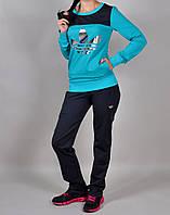 Женский спортивный костюм Adidas 7048 бирюзовый