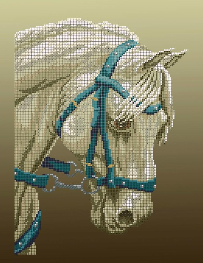 Схема для вишивки та вишивання бісером Бисерок «Кінь» (A3) 30x40 (ЧВ-5134(10))