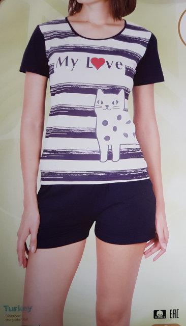 """Женская пижама """"Nicoletta"""" №80756 шорты"""