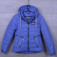 """Куртка подростковая демисезонная """"AaPe"""" для девочек. 10-14 лет. Синий джинс. Оптом., фото 1"""