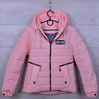 """Куртка подростковая демисезонная """"AaPe"""" для девочек. 10-14 лет. Розово-пудровая. Оптом., фото 1"""