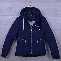 """Куртка подростковая демисезонная """"AaPe"""" для девочек. 10-14 лет. Темно-синяя. Оптом., фото 1"""