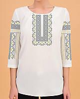 Заготовка вишиванки жіночої сорочки та блузи для вишивки бісером Бисерок «Дивоцвіт» (Б-142 )