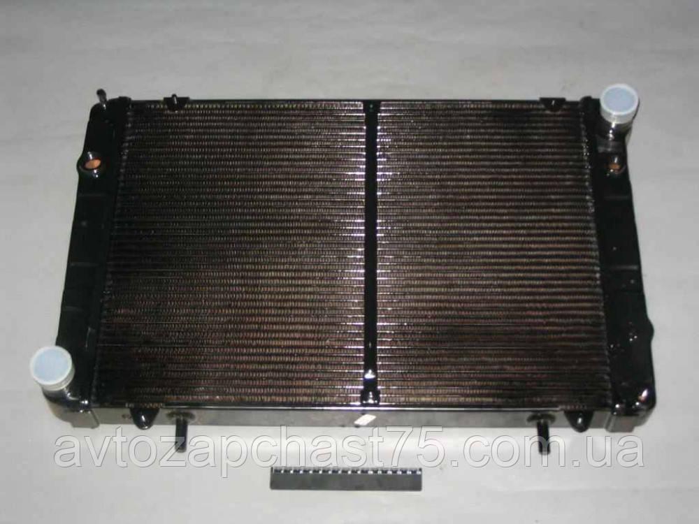 Радиатор Газель, Соболь 2-х рядный, медный , с отверстием под датчик вкл. вентилятора (ШААЗ, Россия)