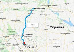 Перевозка деревяных изделий из Украины в Молдову