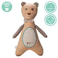 Myhummy - успокаивающая музыкальная мягкая игрушка с белым шумом. Мальчик коричневый