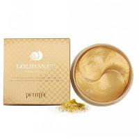 Petitfee Гидрогелевые патчи с золотом и улиточным муцином Gold & Snail Hydrogel Eye Patch 60шт