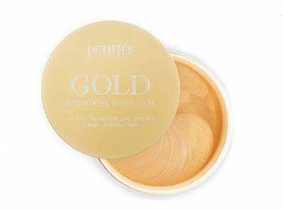 Petitfee Гидрогелевые Патчи с Золотым Комплексом Gold Hydrogel +5 golden complex Eye Patch 60 шт
