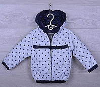 """Куртка-ветровка детская """"Звёзды"""" для девочек. 2-6 лет. Белая. Оптом., фото 1"""