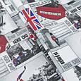 Ткань для штор с городом Лондон, фото 2