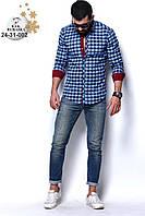 Рубашка мужская Кашемир,р.S, M, L, XL, XXL  Турция