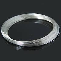 Проволока с памятью стальная для ожерелья, цвет: серебро,  0,6 мм/115 мм (10 витков)