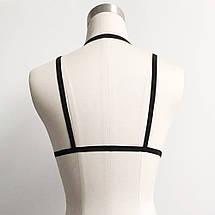 Бюстгалтер Bondage de Colette бондаж груди черный плетение на грудь под рубашку, фото 3