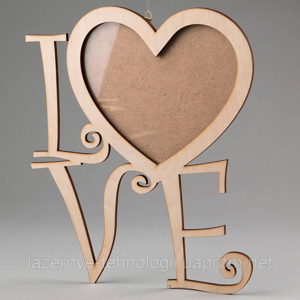 "Фоторамка""LOVE "" замысловатая"