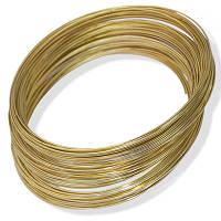 Проволока с памятью стальная для ожерелья, цвет: золото,  1 мм/115 мм (10 витков)