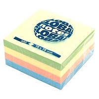 Бумага клейкая  75х75мм 100л GlobalNotes Rainbow Pastel